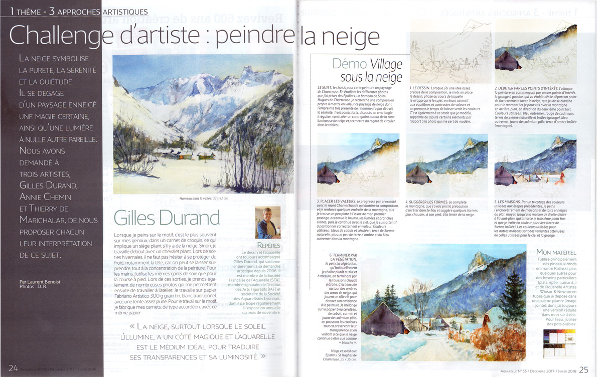Article revue l'Aquarelliste 06 2013